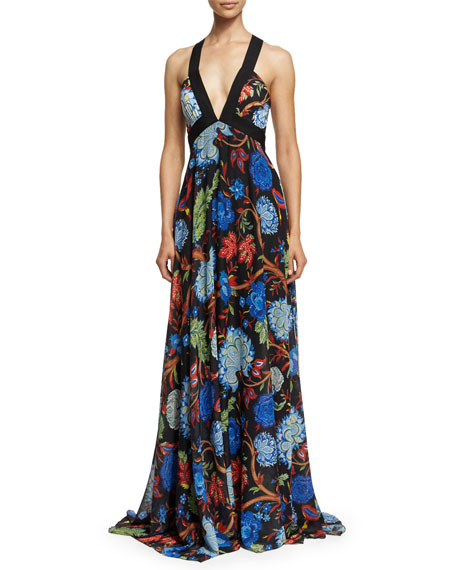 Sleeveless Celina Alder Floral Maxi Dress