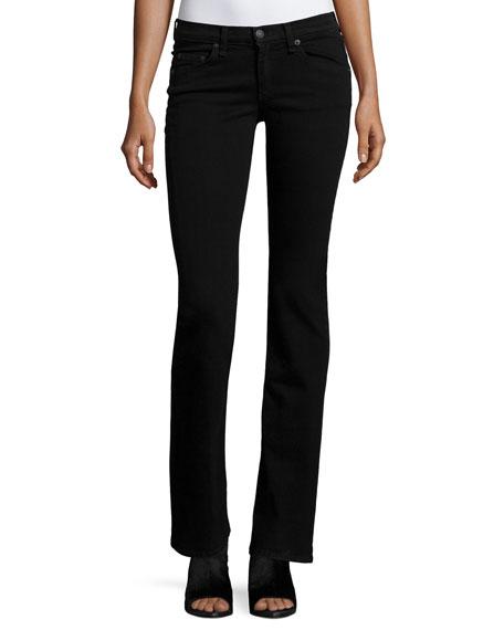 Mid-Rise Boot-Cut Jeans, Black Coal