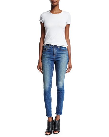 High-Waist Skinny Ankle Jeans, Champs