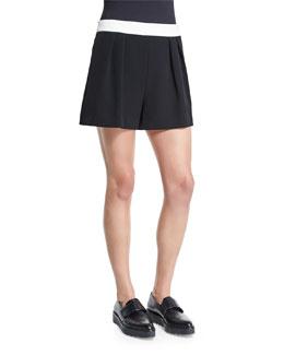 Italian Cady Pleated Shorts