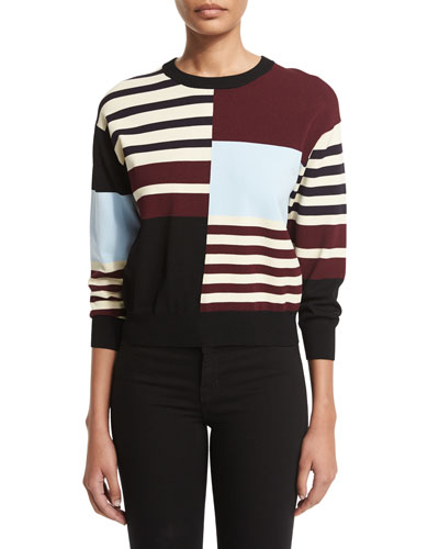 San Marino 3/4-Sleeve Sweater, Multi Colors