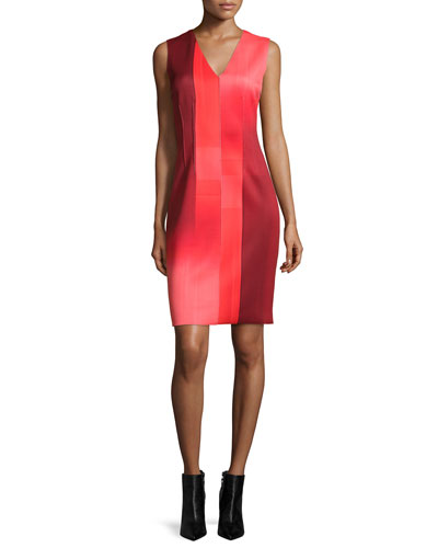Gwenyth Sleeveless Graphic Sheath Dress