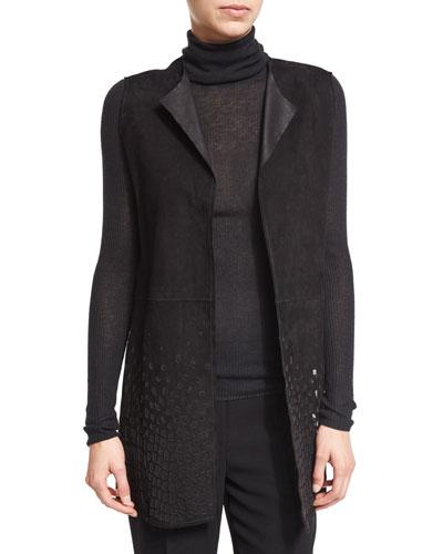 Masha Suede Cutout Vest