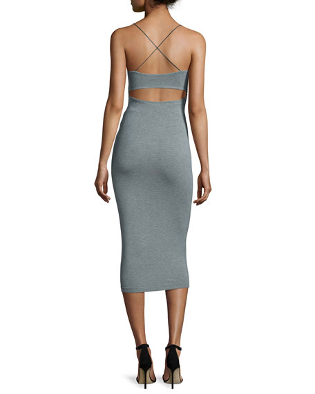 Strappy Stretch Midi Dress