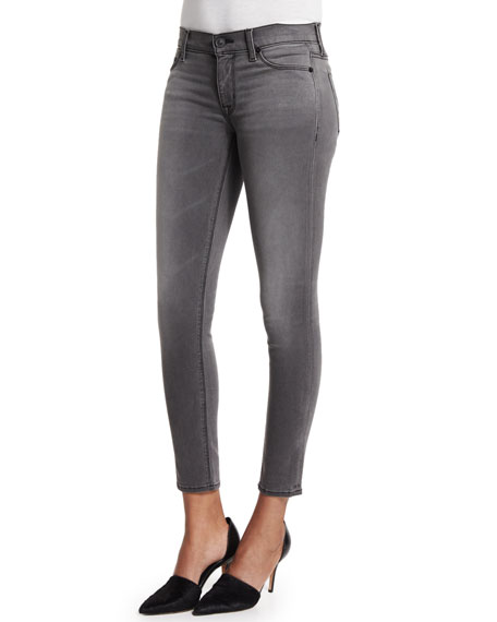 Krista Skinny Cropped Jeans, Infantry Gray