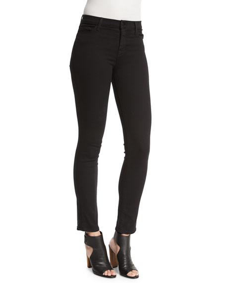 Maria High-Waist Ankle Jeans, Seriously Black