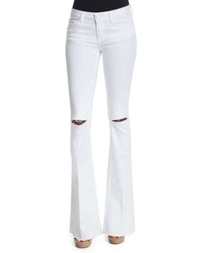 Lou Lou Flare-Leg Jeans, White