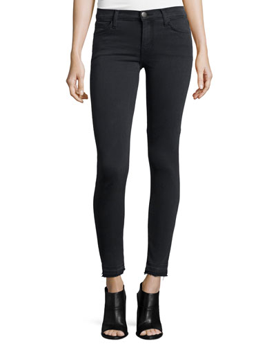The Stiletto Skinny Raw-Hem Jeans, Carlsbad Black