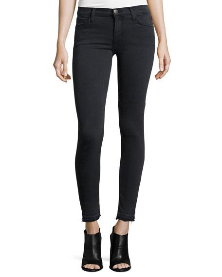The Stiletto Skinny Raw-Hem Jeans, Carlsbad Black