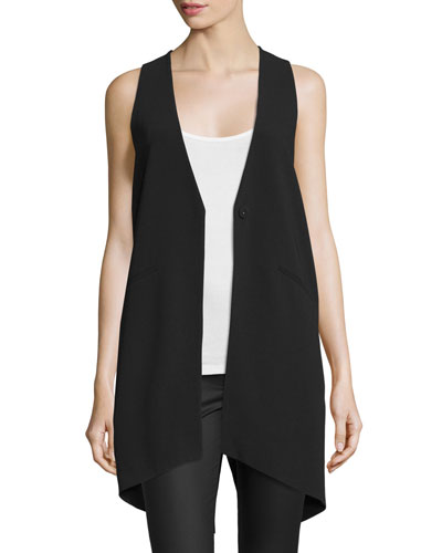 Neema Notched-Lapel Long Vest