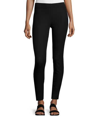 Cotton Stretch Leggings, Black