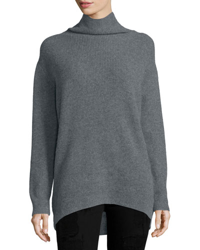 Janet Turtleneck Cashmere Top, Space