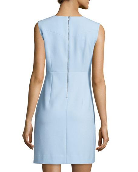 Carrie Sleeveless Sheath Dress Blue Cloud