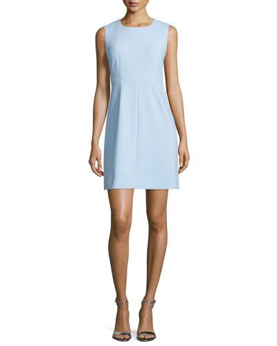 Carrie Sleeveless Sheath Dress, Blue Cloud