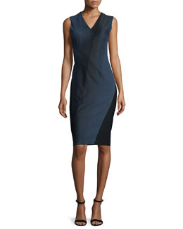 Adine Sleeveless Degrade Jacquard Dress