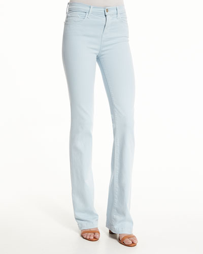 Dasha High-Rise Flare-Leg Jeans, Winter Sky