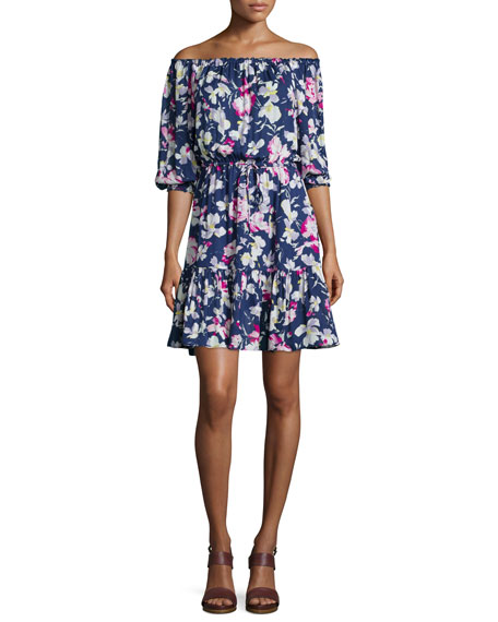 Marx Floral-Print Off-Shoulder Dress