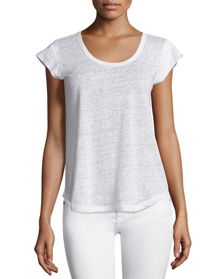 Neyo Short-Sleeve Linen Top