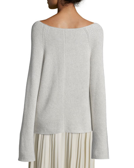 33ea3138a2d5 Helmut Lang Cashmere-Blend Ribbed Pullover Sweater