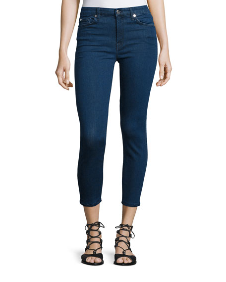 7 For All Mankind Kimmie Cropped Skinny Jeans,