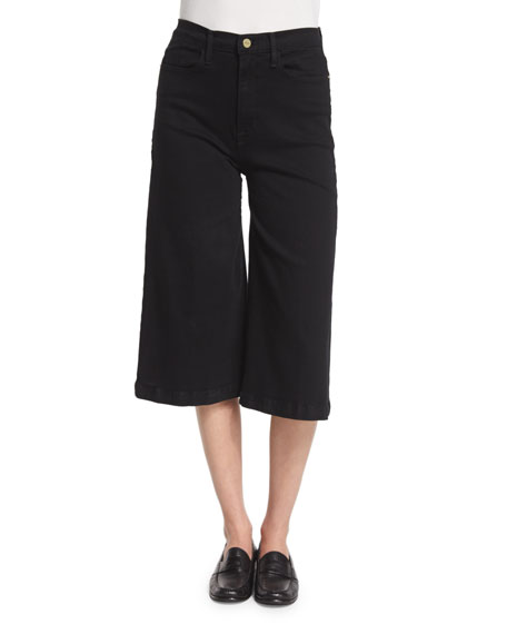 Le Gaucho High-Waist Jeans, Noir