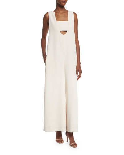 Talene Sleeveless Woven Jumpsuit, Sycamore