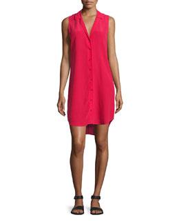 Adalyn Sleeveless Button-Front Shirtdress, Rosetta