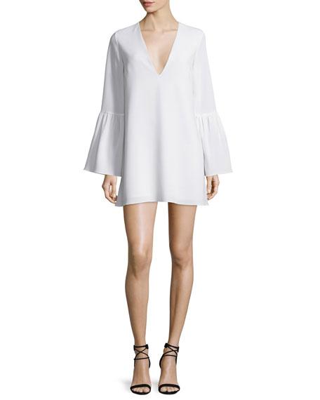 Maitai Long-Sleeve Mini Dress, Ivory