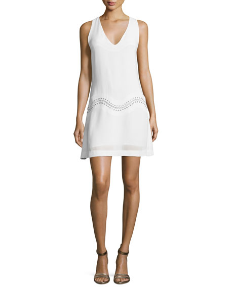 Kinsley Sleeveless A-Line Dress, White
