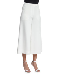 New Presli Cropped Trousers, Ivory