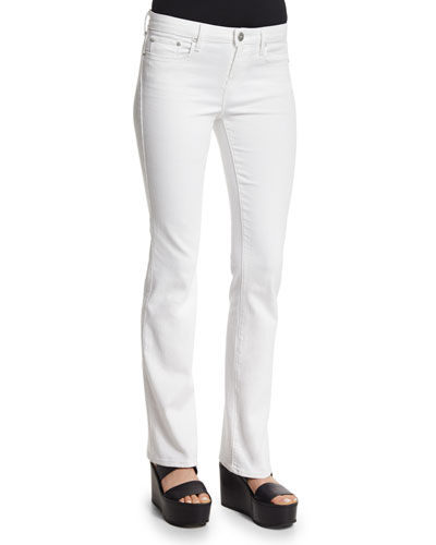 Charlotte Slim-Straight Pants, Optic White