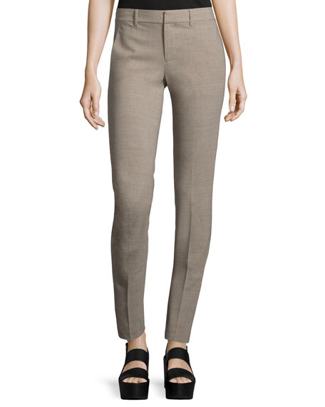 Vince Wool-Blend Strapping Trousers