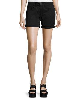Mason Mid-Rise Shorts, Black