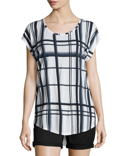 Lattice-Print Cocoon Top