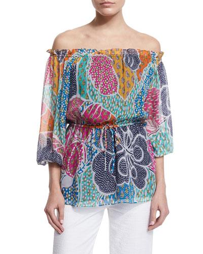 Camila Flower Power Dream Silk Blouse