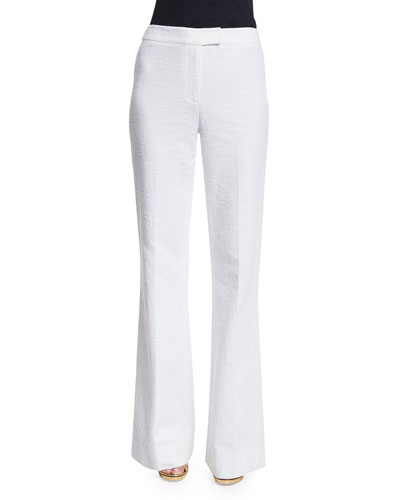 Nicola Wide-Leg Pants, White