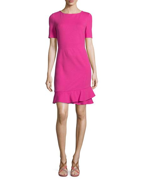 Diane von Furstenberg Serafina Crepe Sheath Dress, Vivid