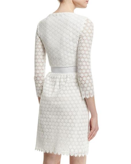 245dcbfb825 Diane von Furstenberg Nolly Cotton Honeycomb A-Line Dress