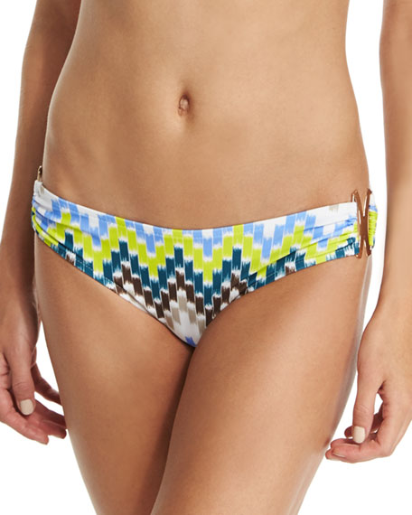 Elba Chevron-Printed Swim Bottom