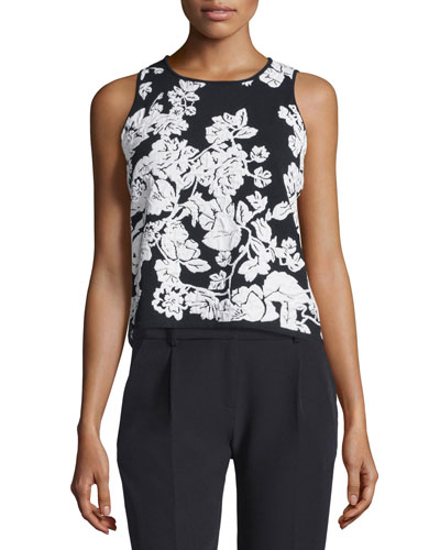 Sleeveless Floral Shell