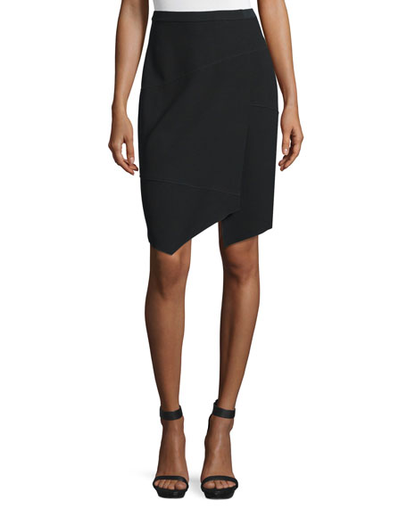 Elie Tahari Minka Wrap Pencil Skirt, Black