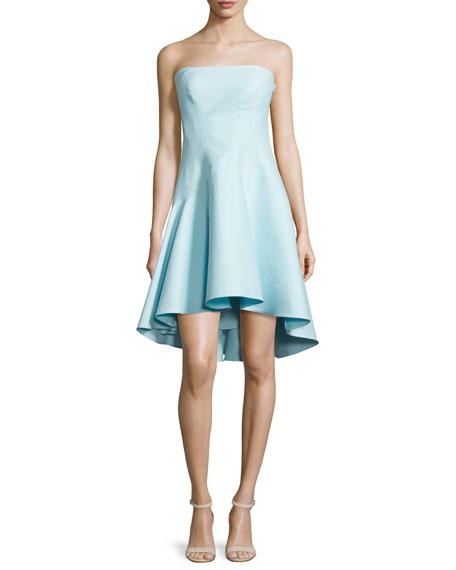 Halston Heritage Strapless Structured Dress, Foam