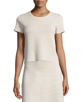 Ferson Glossed Printed Boxy Top
