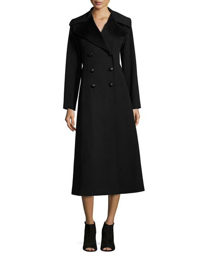 Double-Breasted Wool Maxi Coat