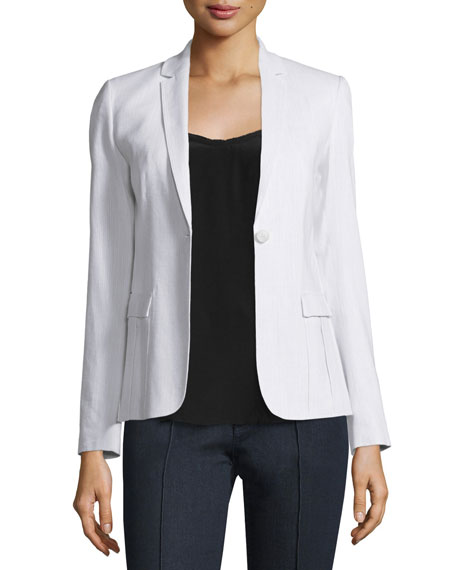 Elie Tahari Tova One-Button Jacket