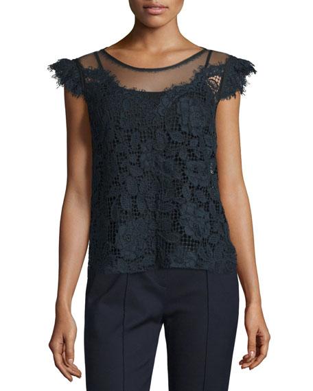 Virginia Floral-Lace Blouse, Stargazer