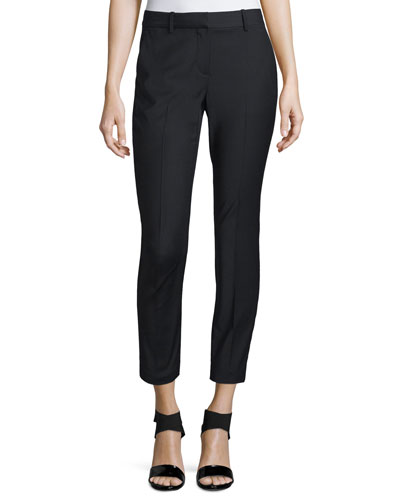 Treeca Cl. Continuous Cropped Pants, Black