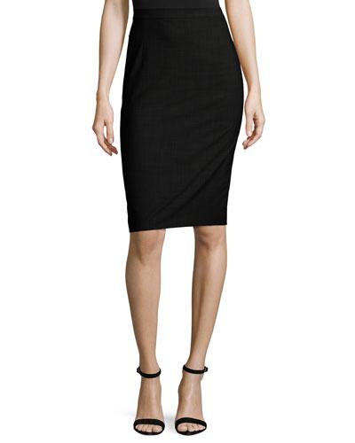 Hemdall B Continuous Pencil Skirt, Denim