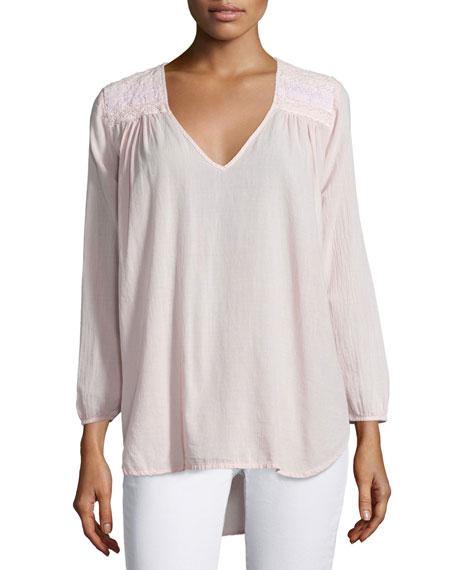 The Picnic V-Neck Shirt, Forever Pink