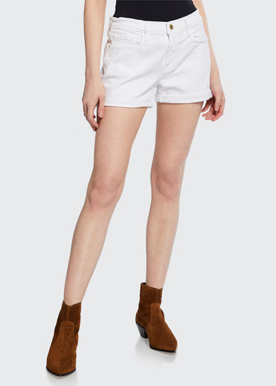Le Cutoff Rolled-Hem Shorts, Noir